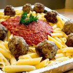 Giorgio's Pizza Catering Penne Pasta with Meatball Marinara