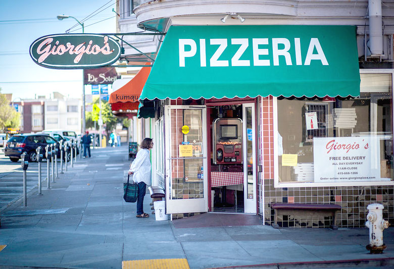 Giorgio's Pizza San Francisco 151 Clement Street Location