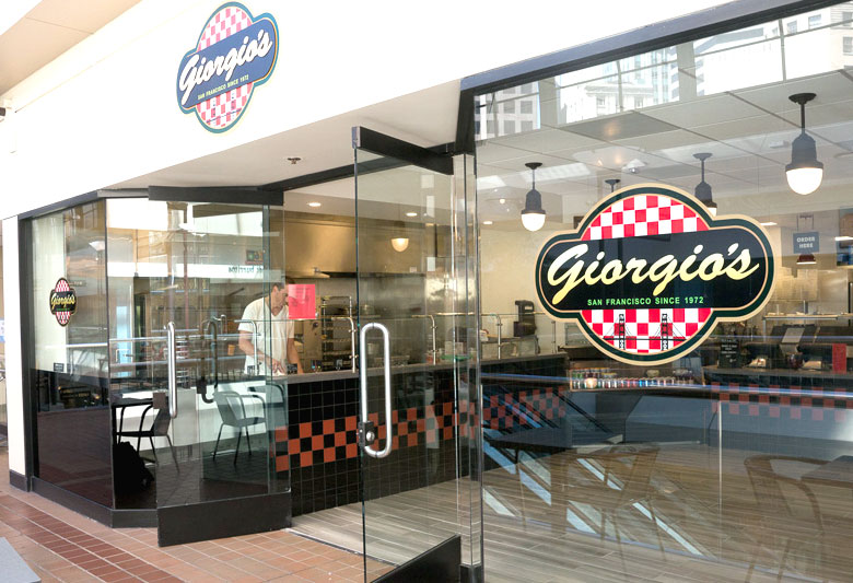 Giorgio's Pizza San Francisco Crocker Galleria Mall Location